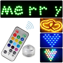 Remote Controller LED Color Change Wedding Party Fish Tank Wterproof Light Jump/Fade(China)
