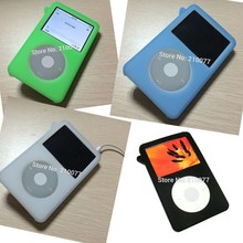 Silicone skin case Cover for new iPod Classic 80GB 120G 160G Video 30gb Gen Cover Holder(China)
