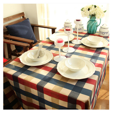 Free Shipping!Table clothe Tablecloth On The Table Towels Dinning Coffe Plaid Square Cotton Home Textile Overlay