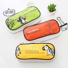 Cute Cartoon Large Storage Pencil Case Holder Cosmetic Makeup Pouch Zipper Bag Container 21.5*10*6cm For school Kids Women Girls