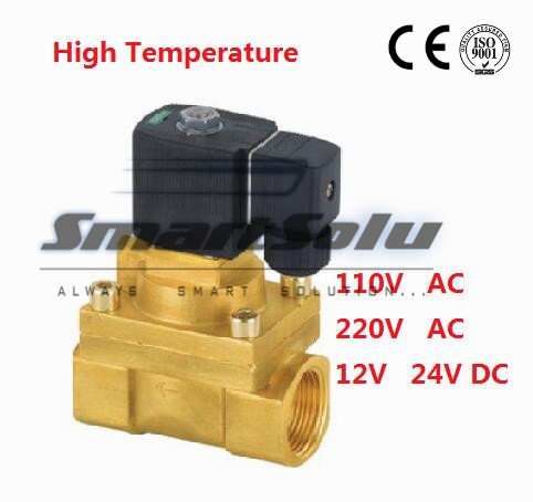 Free Shipping 1/2 High Pressure Solenoid Valve High Temperature 5404-04 PTFE DC12V,D24V,AC110V or AC220V<br>