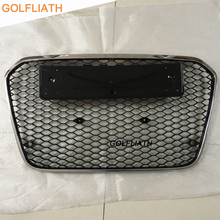 GOLFLIATH RS6 Styling Auto ABS black painted Front Bumper Racing Grill Grille for Audi A6 & S6 & RS6 Sedan 4-Door 2013-2015(China)