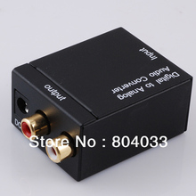 AK Digital Optical Coax Toslink to Analog Audio Converter / Coaxial or Toslink Digital Audio Signals to Analog L / R Audio