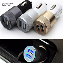Dual USB Car Charger For Iphone 6 6s Plus 5s Universal Car Phone Charger For Ipad USB Adapter For Samsung USB Cigar Socket RF