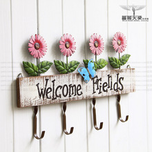 European retro pastoral countryside for old wrought iron hook coat hooks coat hooks sunflowers fashion Mural 2 election