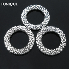 FUNIQUE Soldered Closed Jump Rings Split Rings Findings For Jewelry DIY Making Metal Connector Silver Tone 14mm Dia. 50PCs(China)
