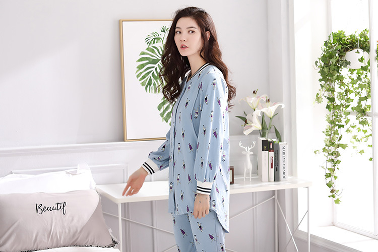 Copy _ new pajamas women long sleeve cotton ms han edition lovely spring big yards month .jpg