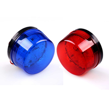 12V Security Alarm Strobe Signal Warn Warning Siren LED Lamp Flashing Light 7.2cmX 4cm Sensors Alarms Blue Red Flashing Light