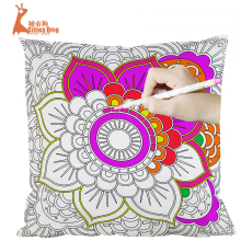 45*45cm imitation silk pillow sets hand painted  mysterious garden coloring diy pillowcases graffiti cushion covers
