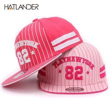 Hatlander Kids baseball cap New York 82 Gorras Children Snapback Hip Hop Caps baby Summer Casual Adjustable Flat Hat For Girl