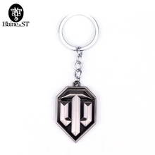 Game Series Related Products World of Tanks Keychain Tanks flag Pedant Keychain Cool Accessories Boyfriend chaveiro gift(China)