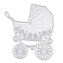 Baby Stroller Metal Cutting Dies Stencils DIY Scrapbooking Decorative Embossing Folder Suit Paper Cards Die Cutting Template