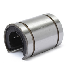 Ball Bearing 16mm Linear LM16UUOP  Bush Bushing Open Type Shaft Round Linear Ball Bearing Steel Silver New