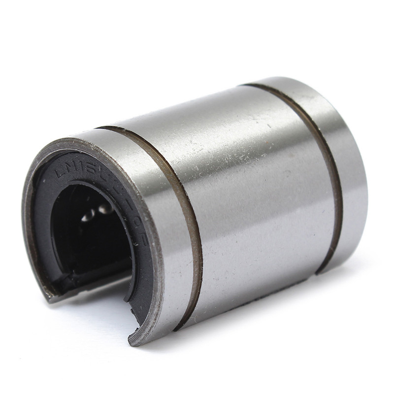 Ball Bearing 16mm Linear LM16UUOP Bush Bushing Open Type Shaft Round Linear Ball Bearing Steel Silver New(China (Mainland))