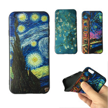 Buy Vincent Van Gogh Starry Sky Oil Painting Iphone 8 5 6 6s 4.7 7 Plus Back Design Vintage Art Painted Pattern TPU Phone Case for $1.39 in AliExpress store