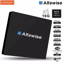 Alfawise S92 Smart TV Box Android 6.0 Amlogic S912 VP9-10 H.265 Decoder 2.4G/5.8G Dual Wifi BT 4.0 Multi-Media Player