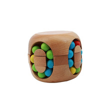 Brain Teaser Toy Intelligent China Kongming Lock Hamburg Rubi k's Magic Cube Jigsaw Puzzle Beech Wood MU879576(China)