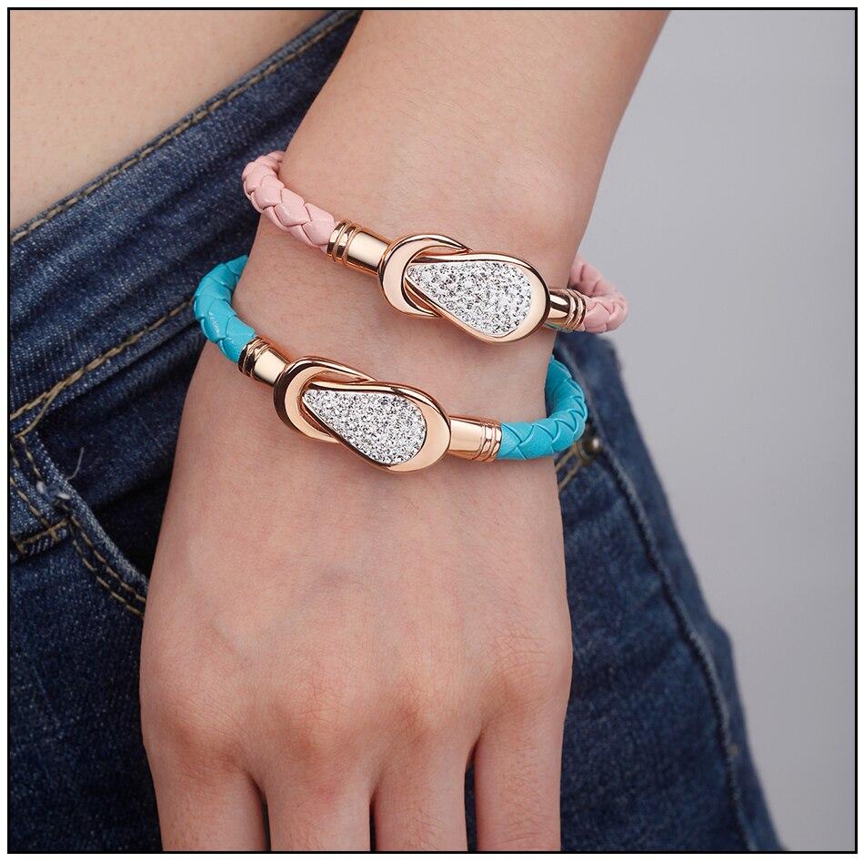 Women Leather Bracelet PU (8)-1
