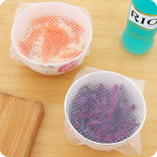 1pcs Silicone Seal Cover Lids Seal Stretch Cling Film Food Fresh Keep Cookware Pan Bowl Cover Kitchen Tools