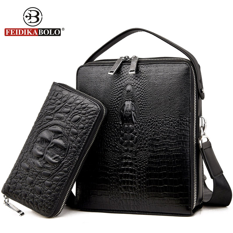 Famous Brand Bag Men Messenger Bags Double Zipper Trunk Leather Handbags Designer Handbags High Quality Men Bag Shoulder Bags<br>