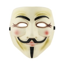 Free shipping 1pcs Party Masks  V for Vendetta Anonymous Guy Fawkes Mask Halloween Cosplay yellow 95693