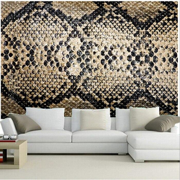 Custom 3D murals,snake texture wallpaper papel de parede ,living room sofa TV wall bedroom wall paper<br>