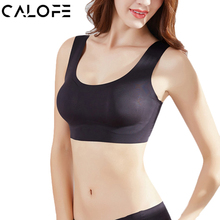 CALOFE Women Seamless Sport Bra Top Breathable Push Up Sports Bra Yoga Brassiere Sport fitness bra Top Tanks One Piece 29(China)