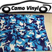 Car Styling Auto Vehicle Body Covers Wraps Urban Camouflage Vinyl Wrapping Blue Camo Film Sticker Air Bubble Free