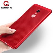 GerTong Heat Dissipation Cover For Xiaomi Redmi Mi 5X A1 6 Mi5 Mi5S Mi5C 4X 4A Y1 Note 4X 4 Pro 5A Prime 3 3S Hard PC Phone Case(China)