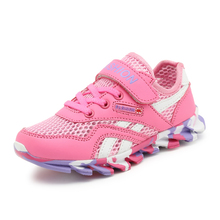 2017 Summer Childrens Designer Shoes Mesh Walking Running Sneakers Boys Girls Breathable Sport Shoes Red Pink Kd Shoes Cheap(China)