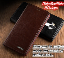 NC06 genuine leather with card slot of magnet flip cover case for LG G3 phone case for LG G3 cover free shipping