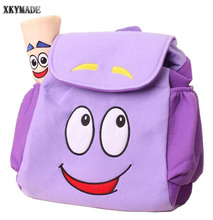 Dora Explorer Backpack Rescue Bag with Map,Pre-Kindergarten Toys Purple Kid Gift Child Gift(China)