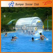 Free shipping ! Factory price ! 0.8mm PVC Walk On Water Roller Inflatable Water Roller Ball For Sale