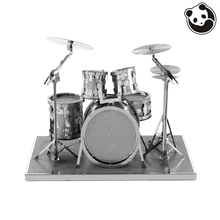 Pandamodel@MUSICAL INSTRUMENTS 3D Metal Model Puzzles DRUM SET Chinese Metal Earth Stainless Steel Creative Gifts ICONX(China)