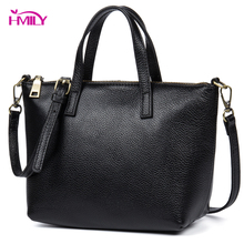 HMILY Female Handbag Genuine Leather Women Shoulder Bag Sweet Candy Color Ladies Messenger Bag Daily Western Style Casual Bag