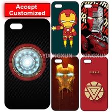 Iron Man DIY Customized Case Cover for LG G2 G3 G4 G5 G6 iPhone 4 4S 5 5S SE 5C 6 6S 7 8 Plus X iPod Touch 5 Sony Z2 Z3 Z4 Z5(China)