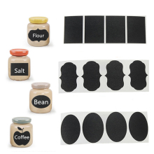36Pcs/Set  Blackboard Sticker Handmade Chalk Pen Chalkboard Sticker Labels Vinyl Kitchen Jar Decor  5CM X 3.5CM  Sticker Labels