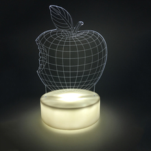 Apple LED 3D Night Light Acrylic 3D Lamp white / colorful Luminaria battery Table Mood luminaria Lampara Valentine's Day(China)