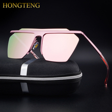 HONGTENG Men's Aluminum Magnesium Alloy Polarized Sunglasses MenWomen Square Vintage Male Sun glasses Eyewear Accessories Google(China)