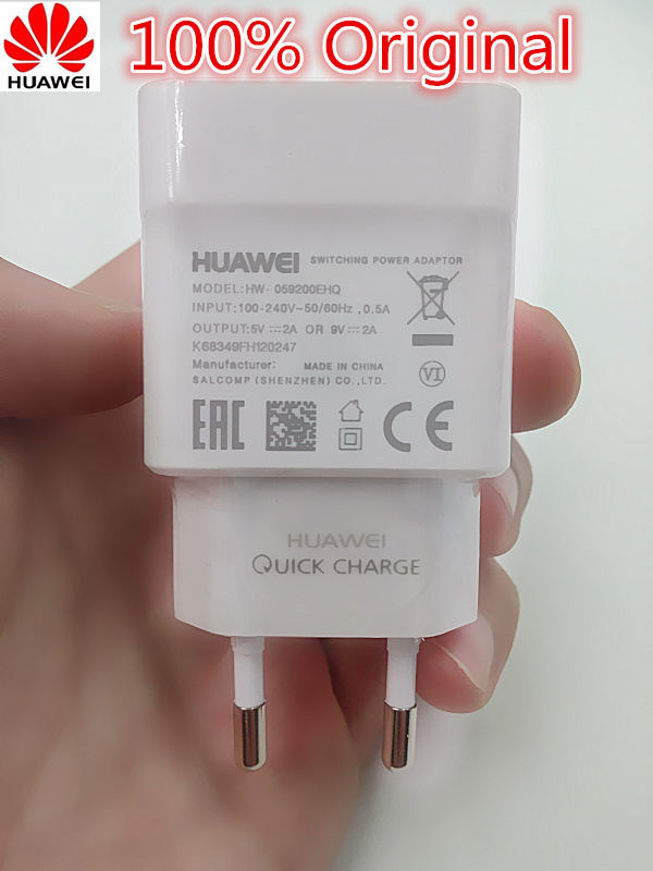 Original HUAWEI Fast charger For p9 Honor 8 Note 8 mate 8 p8 lite 9V 2A
