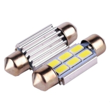 Festoon CANBUS 31mm 36mm 39mm C5W Auto Lamp ERROR FREE 6 SMD 5630 5730 LED car interior Dome light 6SMD NO OBC ERROR bulbs White