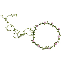 NEW Lady Boho Floral Flower Festival Wedding Garland Forehead Hair Head Band pink