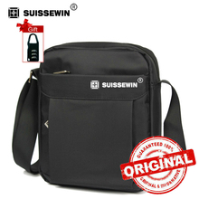 SUISSEWIN Casual Men's Daily Shoulder Bag Small Messenger Bag for Ipad, purse and phones Brown Black Crossbody Bag Women SN5052V