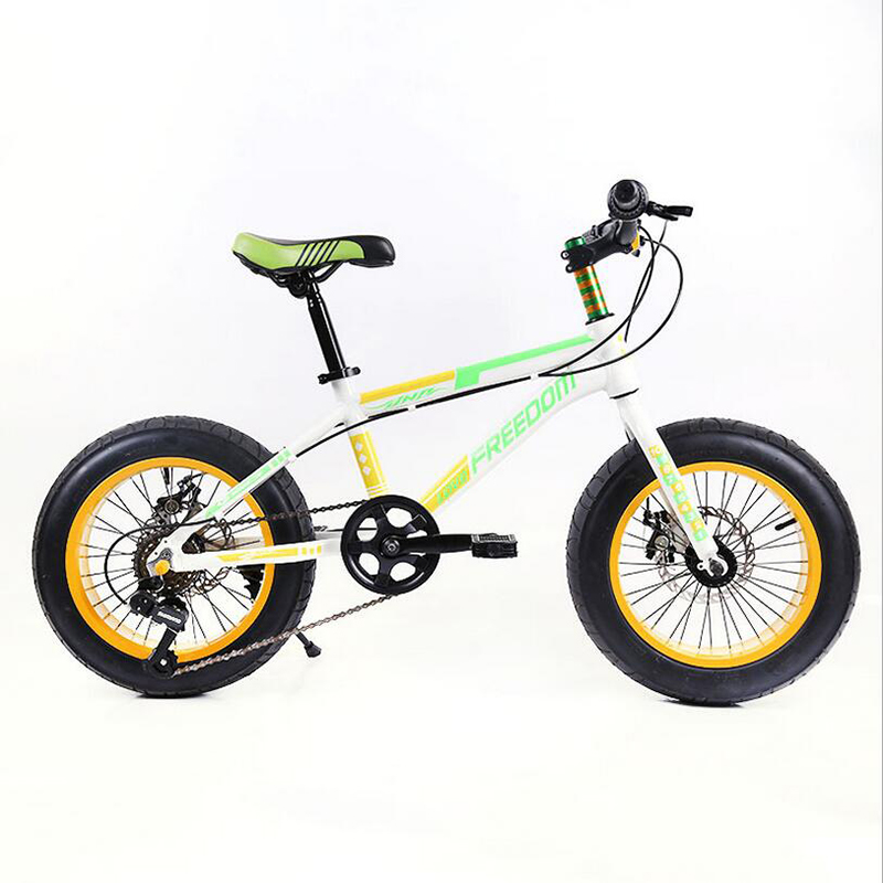 2017 hot sale 20 inches snowbike Children bicycle 7 speed mountain kid's bike double disc brakes mini bicycle