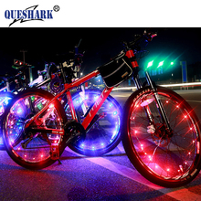 20 LED Colorful Bicycle Lights Mountain Bike Light Cycling Spoke Wheel Lamp Bike Accessories Luces Led Bicicleta Bisiklet(China)
