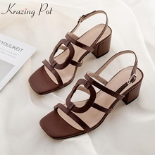 Sandals Krazing-Pot Peep-Toe Buckle-Straps Art-Design Elegant Fashion Hot Limited Customization