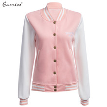 Gamiss New Spring Autumn Women Basic Baseball Jackets feminino Sweatshirt Women Coats Outerwear Bomber Jacket Coat Plus Size