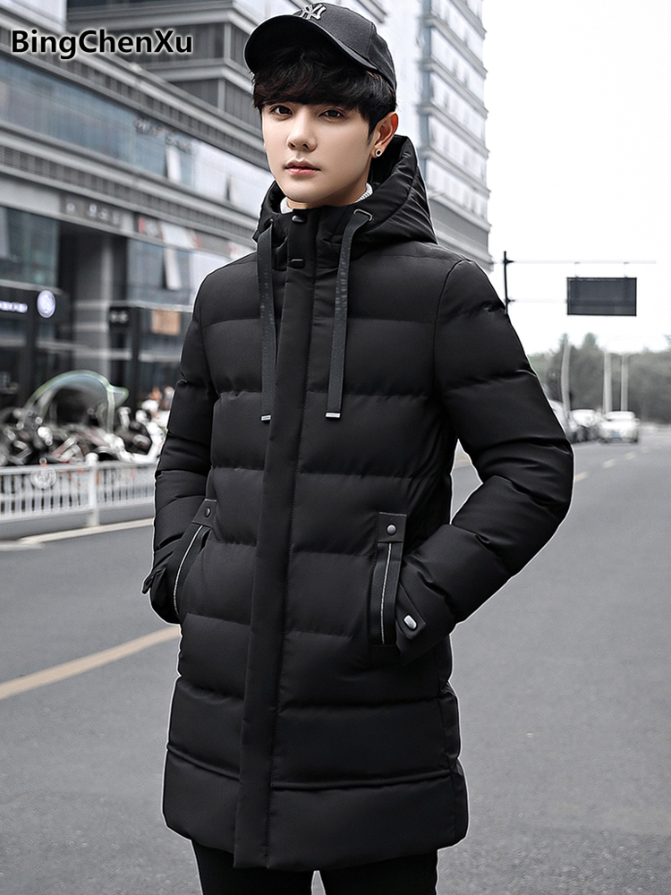 thick winter coat brand fashion men's down jacket chaqueta hombre invierno casual long jacket parkas 2018 quality overcoat 1177