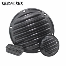 1 Set/Pc Derby Cover Timing Timer Cover Inspection CNC Deep Cut Motorcycle  Cap For Harley Sportster 883 1200 XL