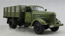 1:32 Car Alloy CA10 China Jiefang Military Diecast Truck Model With light sound Army Green Truck Military Model Kids Toys Gift B